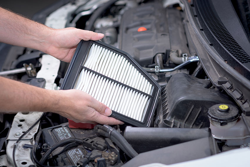Replacing the air filter