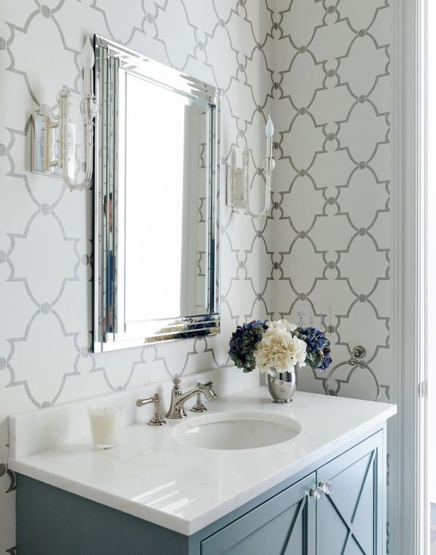 bathroom wallpaper designs