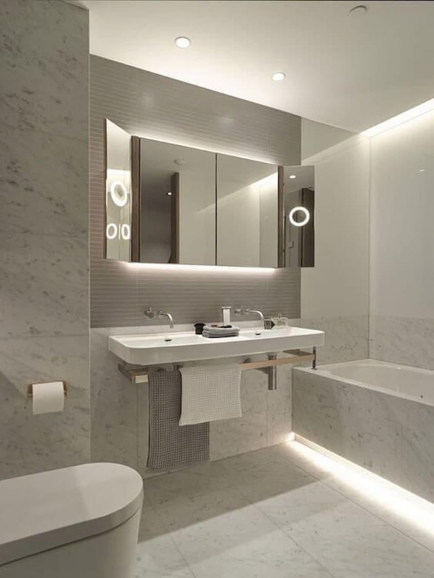 led strip lights bathroom