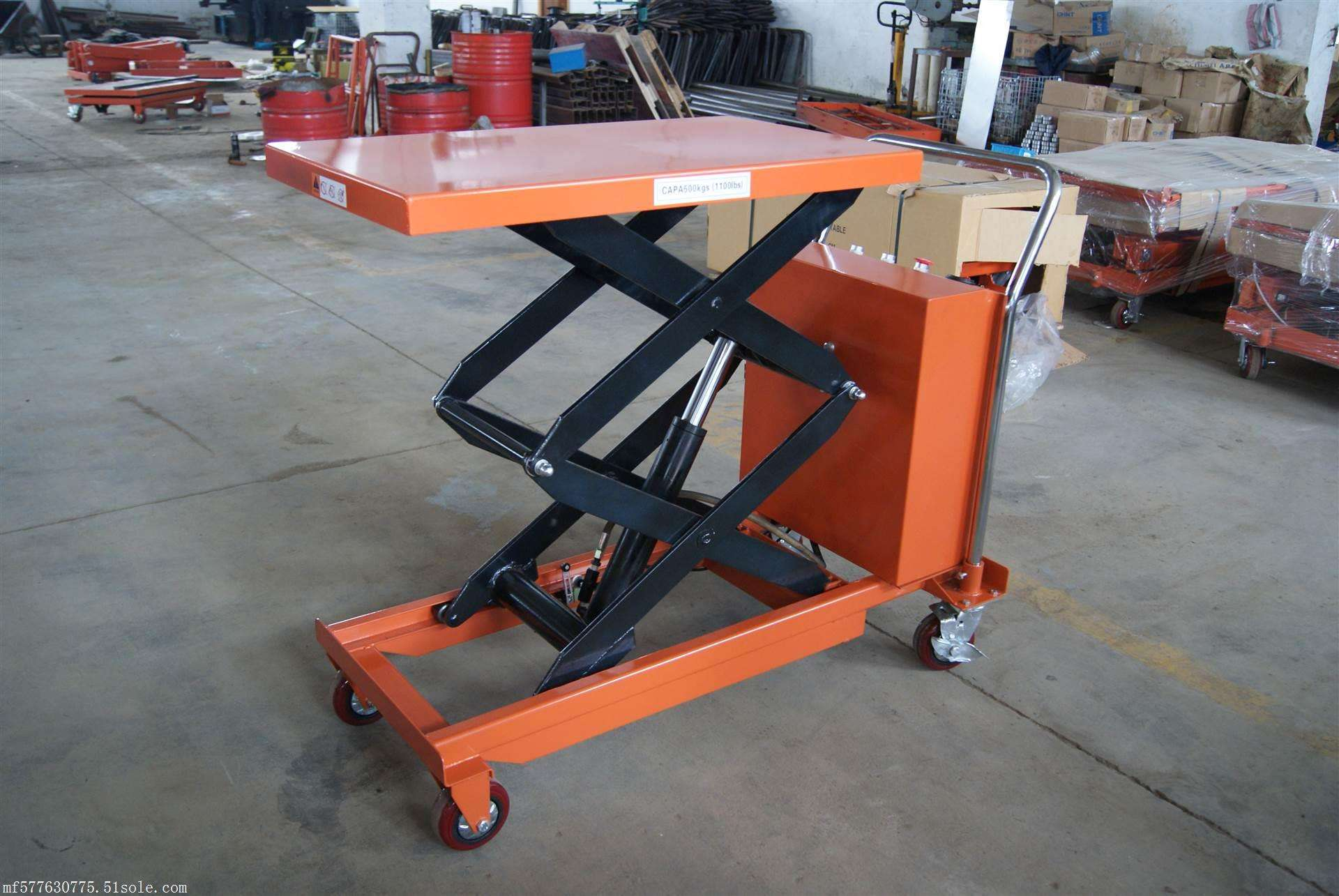 Electric-scissor-lift-table-trolley