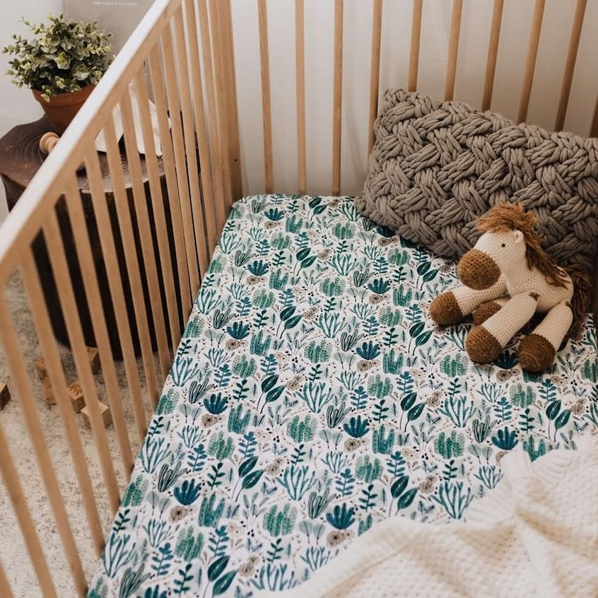 bamboo cot sheet and bedding for little baby