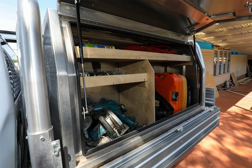 inside of the ute tray